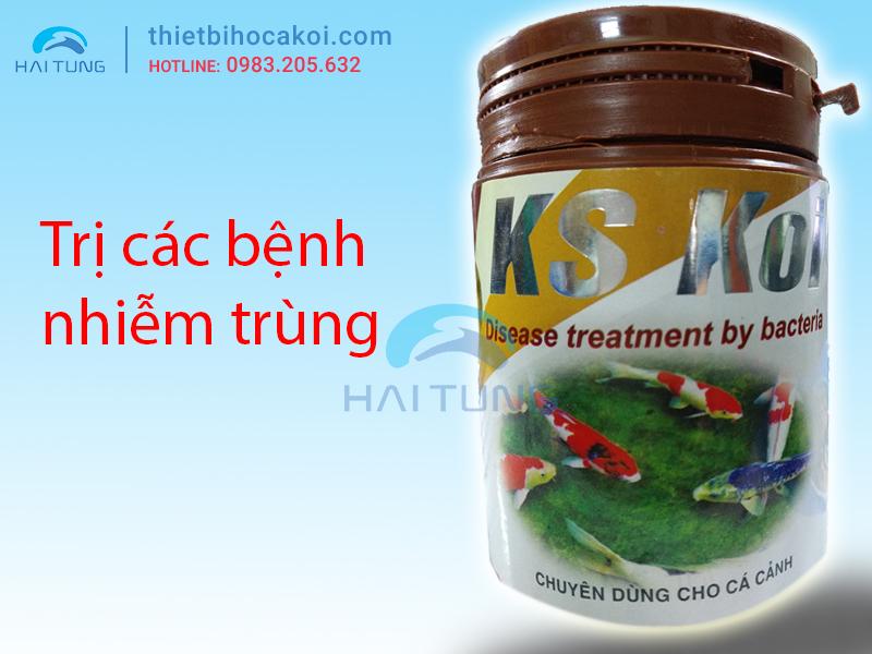 Thuốc trị nhiễm khuẩn cá koi KS KOI 100gr